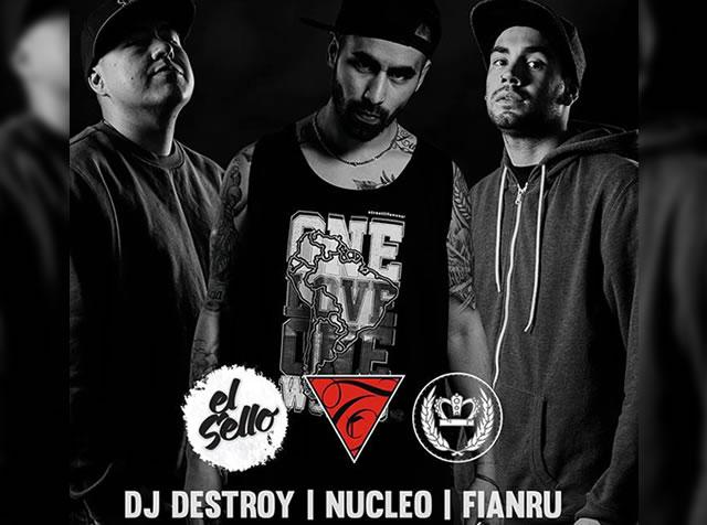 Núcleo, Fianru & Dj Destroy Arms en Bogotá