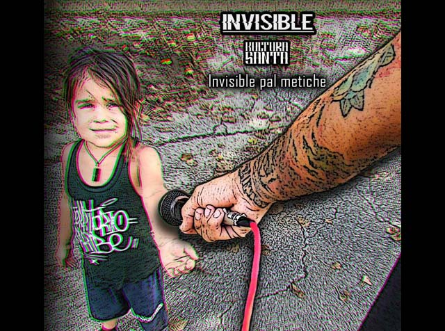 "Invisible y su álbum ""Invisible Pal Metiche"""